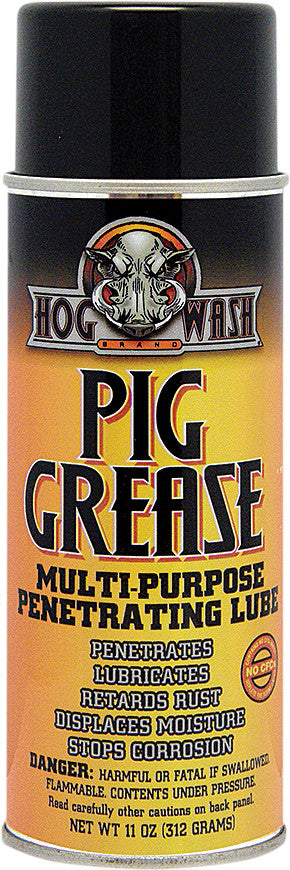 HOG WASH PIG GREASE MULTI-PURPOSE PENETRATING LUBE; 11OZ: