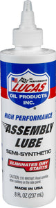 LUCAS SEMI-SYNTHETIC ASSEMBLY LUBE: 4oz / 8oz :