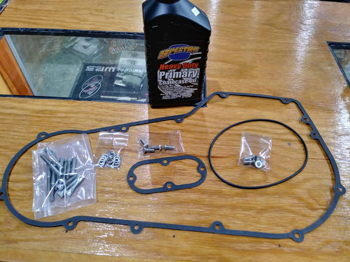 Primary cover service kit: '94-'04 Big Dog; Stainless Steel Hardware. Made in USA!
