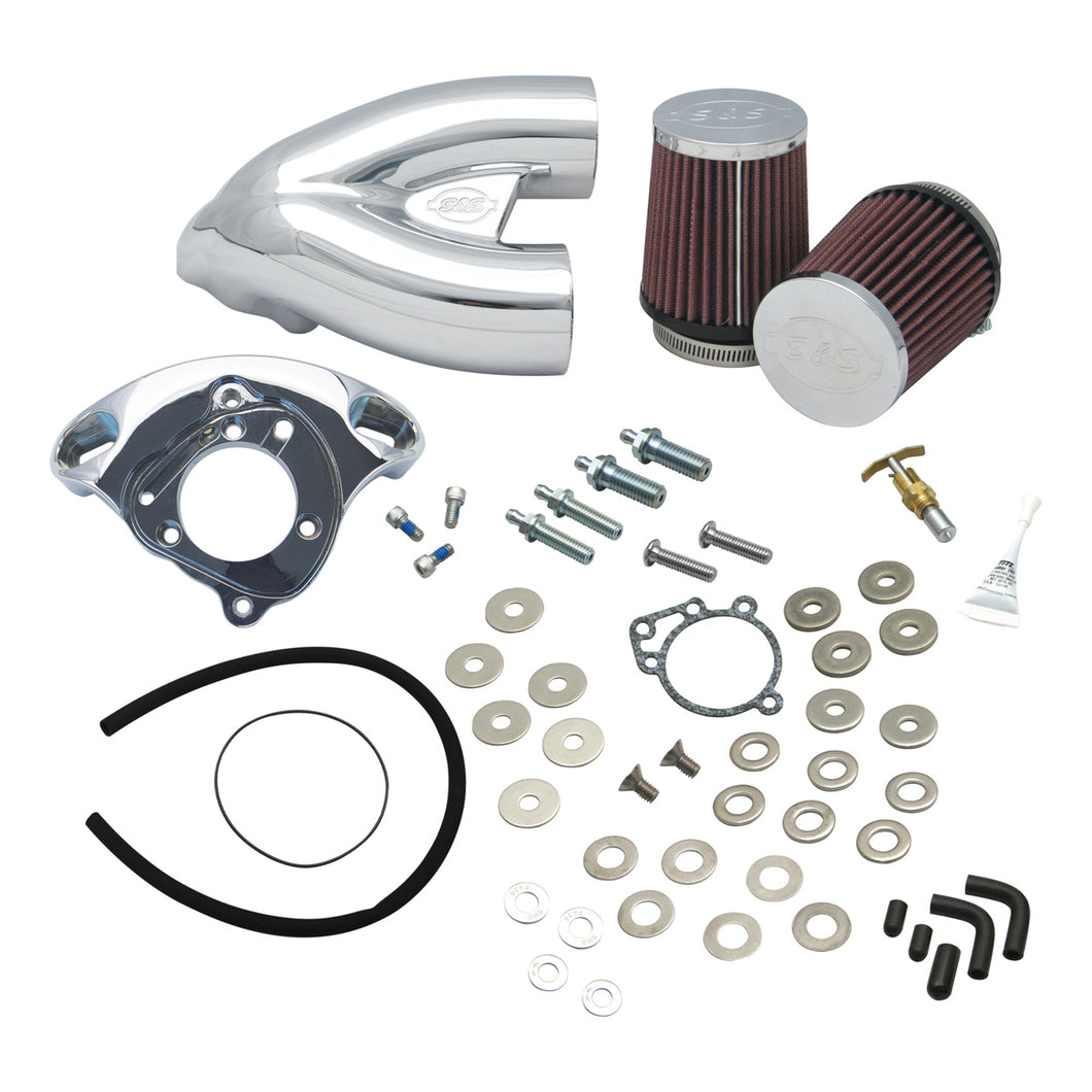 S&S Tuned Induction Air Cleaner Kit, Carb models: 4-1/8 bore models