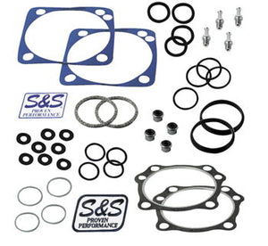 "S&S Top End Gasket Kit, 4-1/8"" bore, V series EVO 111, 117, 124"