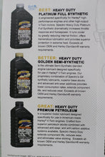 Load image into Gallery viewer, ( 4 qts ) Spectro Heavy Duty Golden Semi-Synthetic 20/50 Engine Oil: