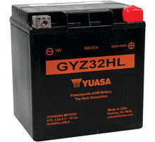 Load image into Gallery viewer, Premium YUASA; GYZ32HL 500cca sealed AGM Battery: '97-'19 FLH, FLT: