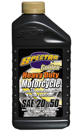( Case ) Spectro Heavy Duty Golden Semi-Synthetic 20/50 Engine Oil, 12 U.S qts: