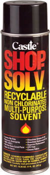 CASTLE® SHOP SOLV™: non-chlorinated multi-purpose solvent:
