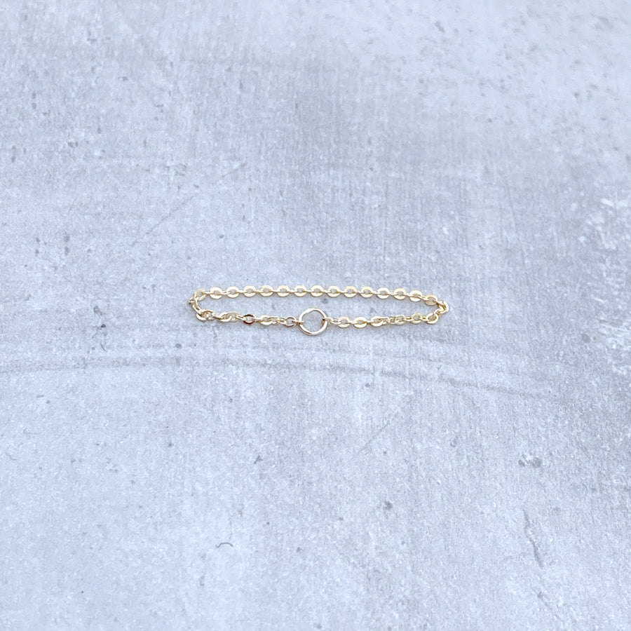 CHAIN Ring 14ct Yellow Gold Filled