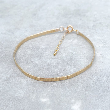 14ct Yellow Gold Filled MOLTEN METAL BRACELET