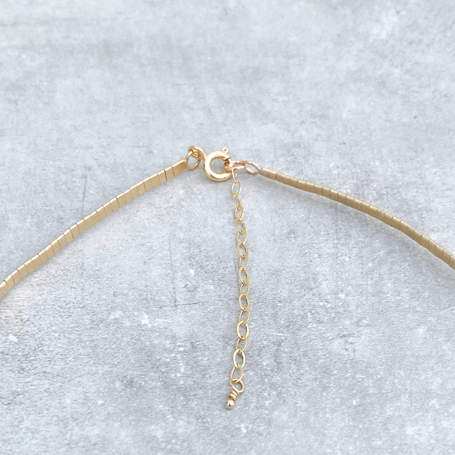 MOLTEN METAL Necklace 14ct Yellow Gold Filled