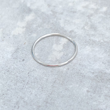 925 Sterling Silver SMOOTH Skinny Ring