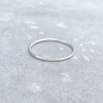 925 Sterling Silver TEXTURED Skinny Ring