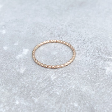14ct Yellow Gold Filled TWISTED Skinny Ring