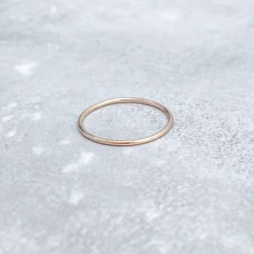 14ct Yellow Gold Filled SMOOTH Skinny Ring