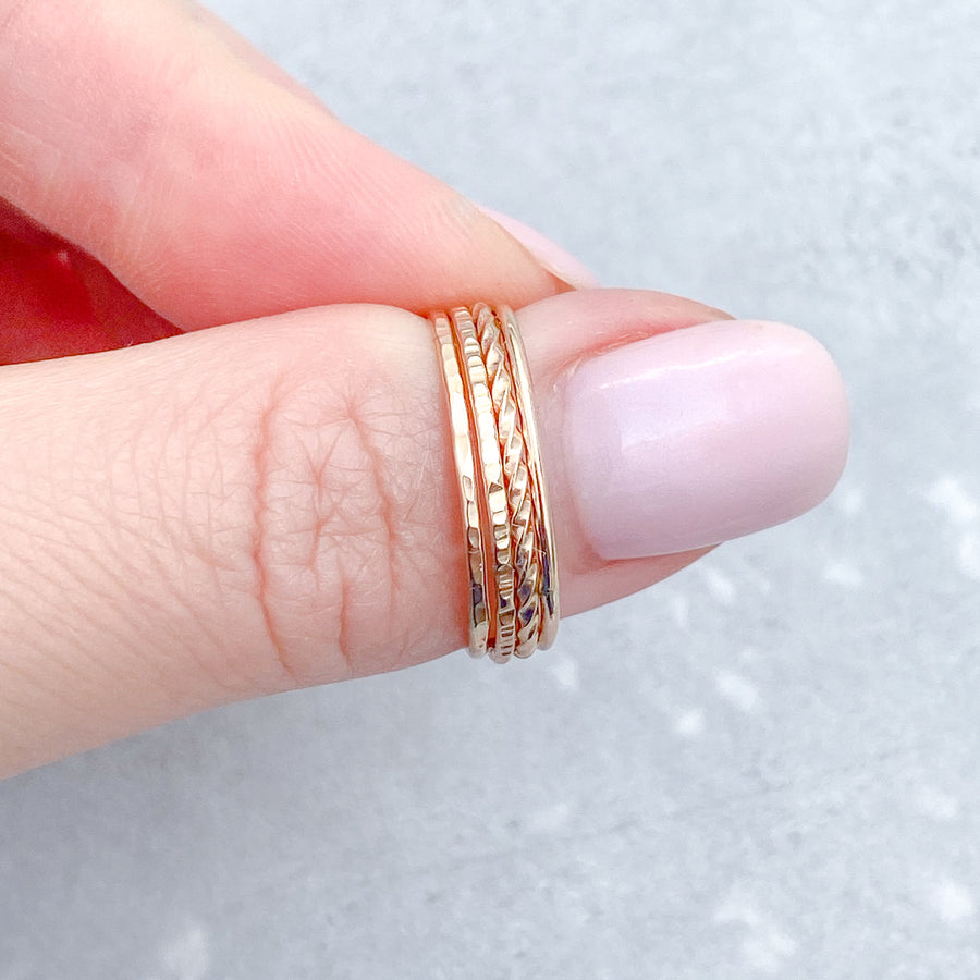 SMOOTH Skinny Ring 14ct Yellow Gold Filled