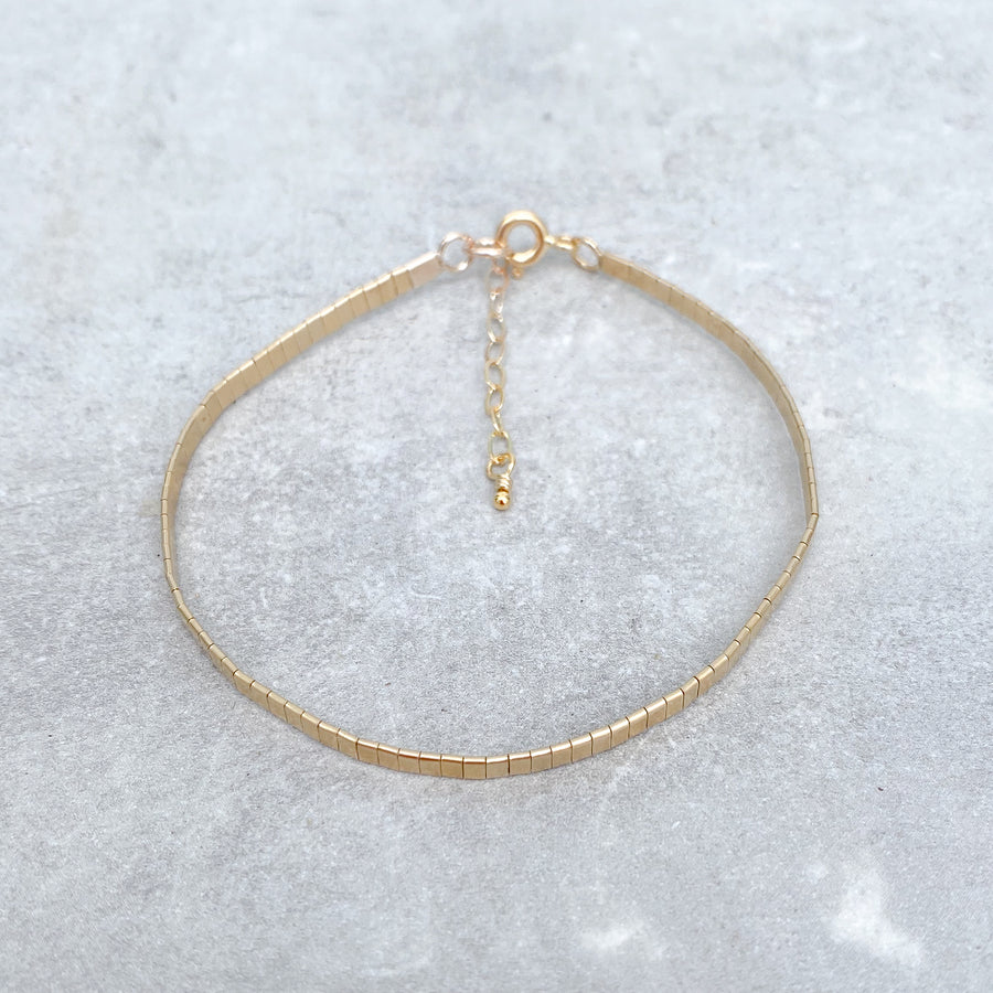 MOLTEN METAL Bracelet 14ct Yellow Gold Filled