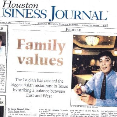 HOUSTON BUSINESS JOURNAL: FAMILY VALUES