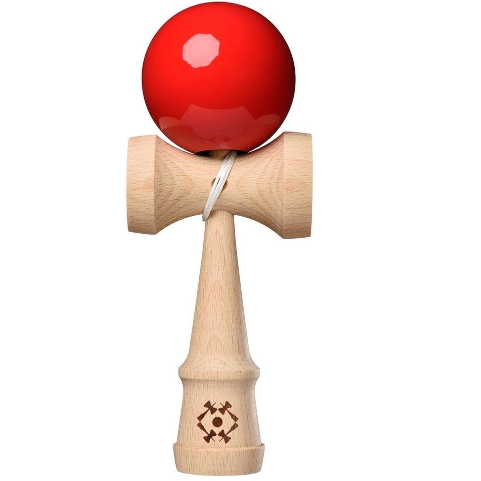 Kendama USA Tribute Jumbo - Red Sticky Paint