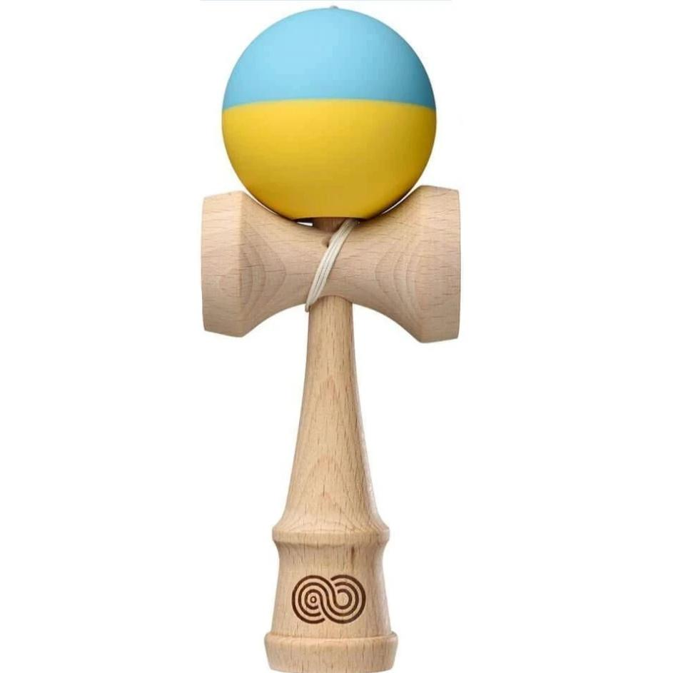 KendamaUSA Kaizen 1.0 Half Split - Light Blue and Yellow - Silk