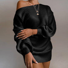 Laden Sie das Bild in den Galerie-Viewer, Ladies Off Shoulder Sweater Dress - Les Value