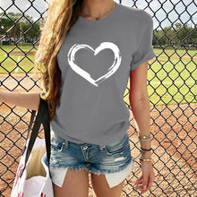 Load image into Gallery viewer, Hearts Women T-shirts Tops Tee