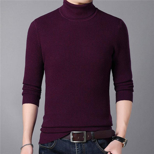 Cashmere Wool Sweater For Men | Mens Sweaters | Men Turtleneck Jumper - Les Value
