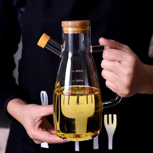 Country kitchen glass oil bottle - Les Value