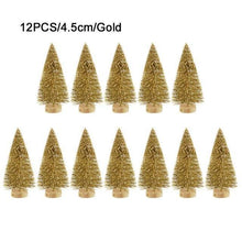 Load image into Gallery viewer, 12-Piece Mini Christmas Decoration Tree