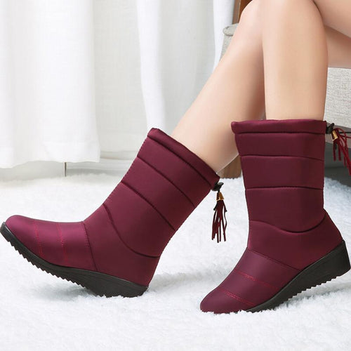 Womens wide calf snow boots - Les Value
