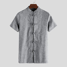 Load image into Gallery viewer, Chinese collar half shirts - Les Value