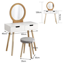 Load image into Gallery viewer, Makeup Wooden Table with Chair - Les Value