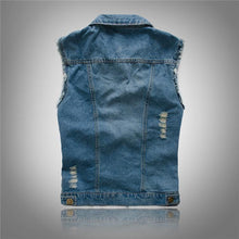Load image into Gallery viewer, Sleeveless denim jacket outfits - Les Value