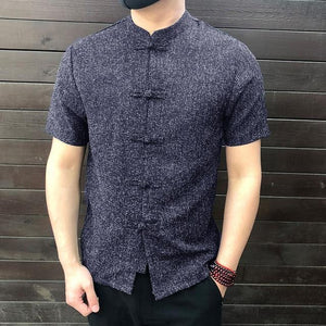 Chinese collar half shirts - Les Value