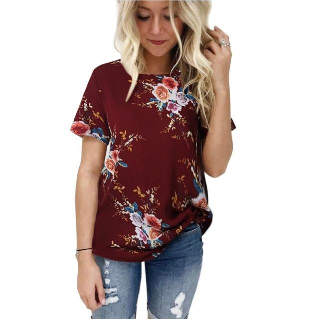 4th july women's t shirt - Les Value