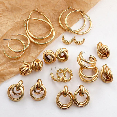 Gold Colour Earrings - Les Value