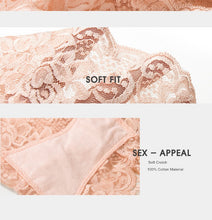Load image into Gallery viewer, Floral lace panties  |  Floral lace hiphugger panty  | High waist lace panties - Les Value