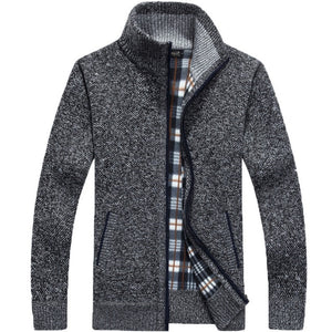 Men's Knitted Sweater Coat - Les Value