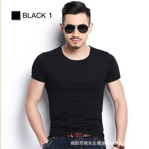 Men's Slim fit T Shirts | Multi Colors T Shirt |  Spandex Men T Shirt - Les Value