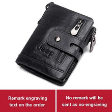 Load image into Gallery viewer, Jeep Leather Men Wallet | Dad's Wallet | Jeep dads wallet - Les Value