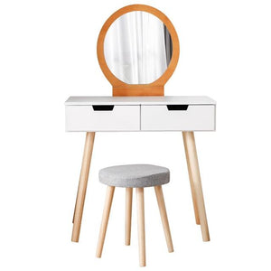 Makeup Wooden Table with Chair - Les Value
