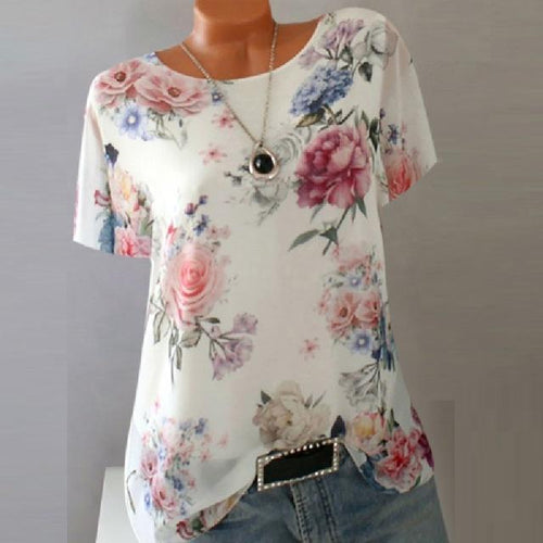 Summer Floral Blouse - Les Value
