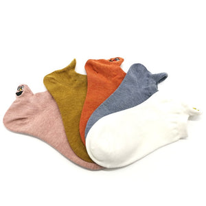 Embroidered Women Socks  5 Pairs/Pack | Women summer socks | Fun women ankle socks - Les Value
