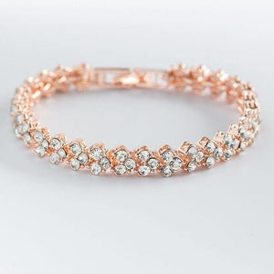 Women Silver Rose Gold Bracelets - Les Value