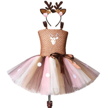 Load image into Gallery viewer, Christmas party dress for girl | Girls deer dress - Les Value