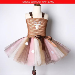 Christmas party dress for girl | Girls deer dress - Les Value