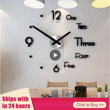 Load image into Gallery viewer, Wall Sticker Clock