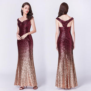 Off shoulder party gown - Les Value