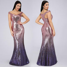 Load image into Gallery viewer, Off shoulder party gown - Les Value