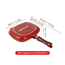 Load image into Gallery viewer, Double Face Frying Pan | 28 CM Double-Sided Non-Stick Frying Pan - Les Value