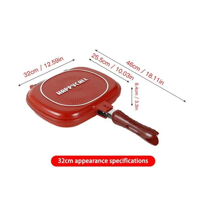 Double Face Frying Pan | 28 CM Double-Sided Non-Stick Frying Pan - Les Value