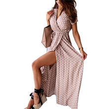 Load image into Gallery viewer, Women Long Maxi Dress | Dot Print Beach Maxi - Les Value
