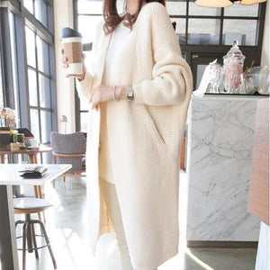 Hooded sweater coat plus size - Les Value